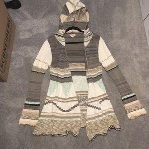 Mudd lightweight open cardigan with hood